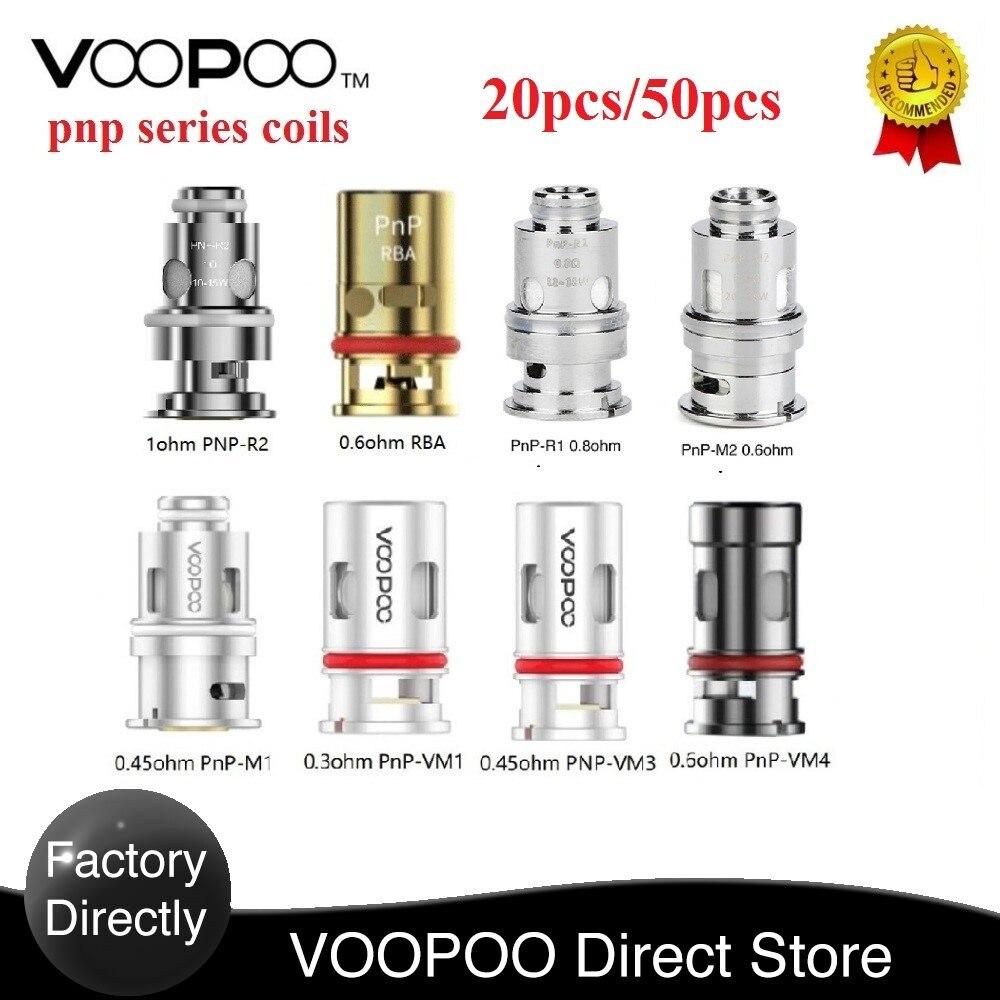 Original VOOPOO PnP Coils 0.3ohm / 0.8 Ohm Mesh Coil / 0.6ohm RBA Coil For VOOPOO VINCI R/ Vinci X / VINCI Mod Pod Kit Vape Coil