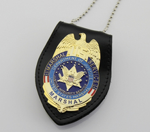Classic UNITED STATES MARSHAL SERVICE DEPARTMENT OF JUSTICE INTEGRITY SERVICE , Replica Movie Prop Pin Badge
