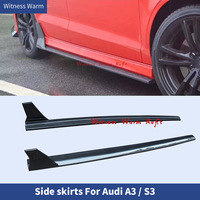 Carbon Fiber / FRP Auto Car Side Skirts Extension Lip Apron Side Lip Splitters Body Kits for Audi A3 Sline S3 2013 2019