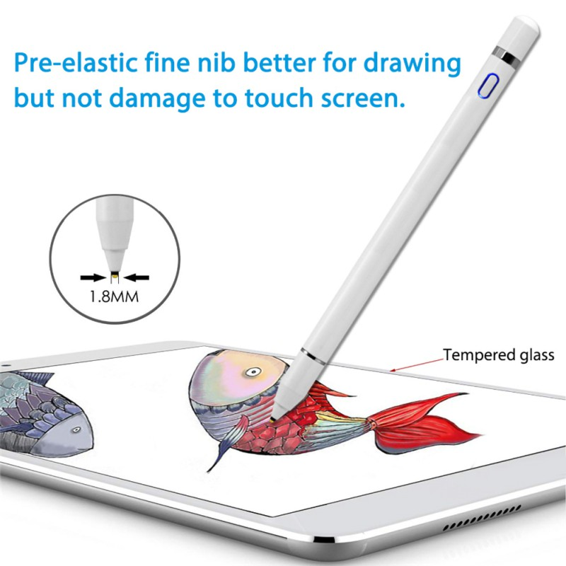 Active Stylus Touch Pen For Apple <font><b>iPad</b></font> <font><b>Pro</b></font> 11 12.9 <font><b>10.5</b></font> 9.7 mini 5 Air Smart Capacitance <font><b>Pencil</b></font> For iPhone Huawei Xiaomi Tablets image