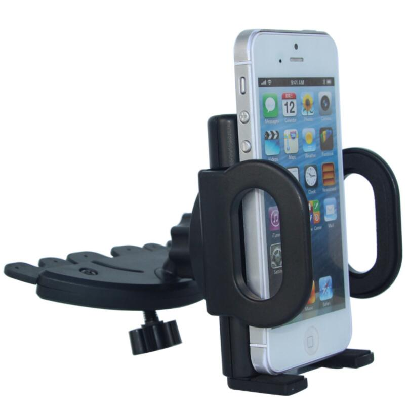 360 Degree Universal CD Slot Mobile Phone Holder In Car Stand Cradle Mount for 4-5.5 inch iPhone GPS