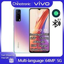 Original vivo z3 iqoo z3 6gb 128gb 5g telefone móvel snapdragon 768g 6.58