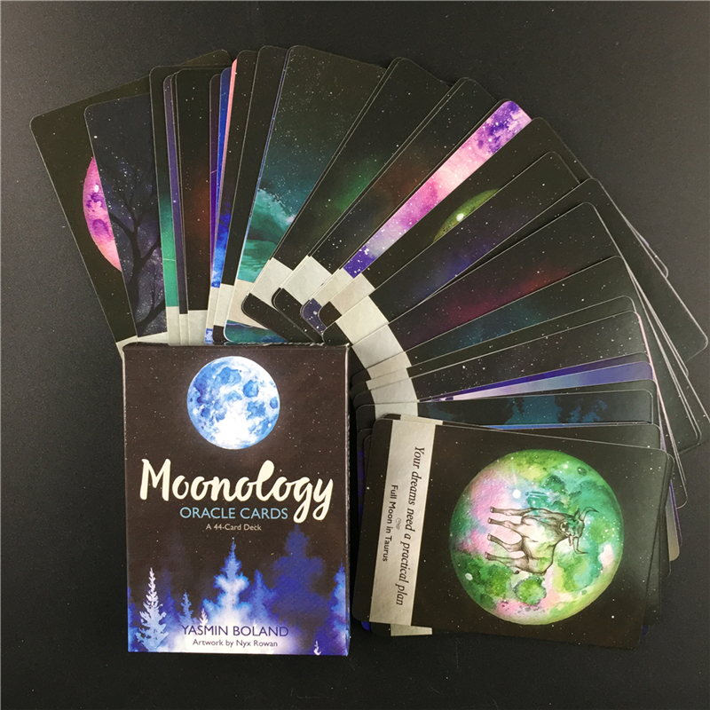 English Guidance Moonology   Oracle  Cards Tarot Deck Cards Read The Mythic Fate Divination For Fortune Games