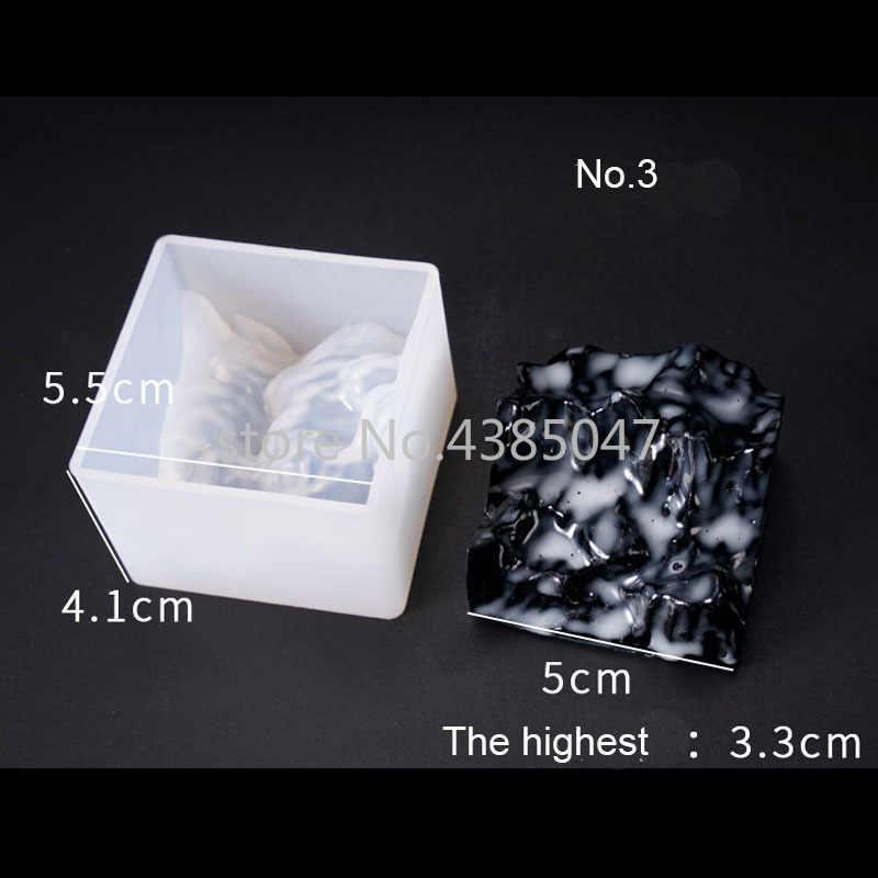 Novo design montanha em forma de silício ferramenta jóias acessórios resina uv molde diy seco flor decoração moldes