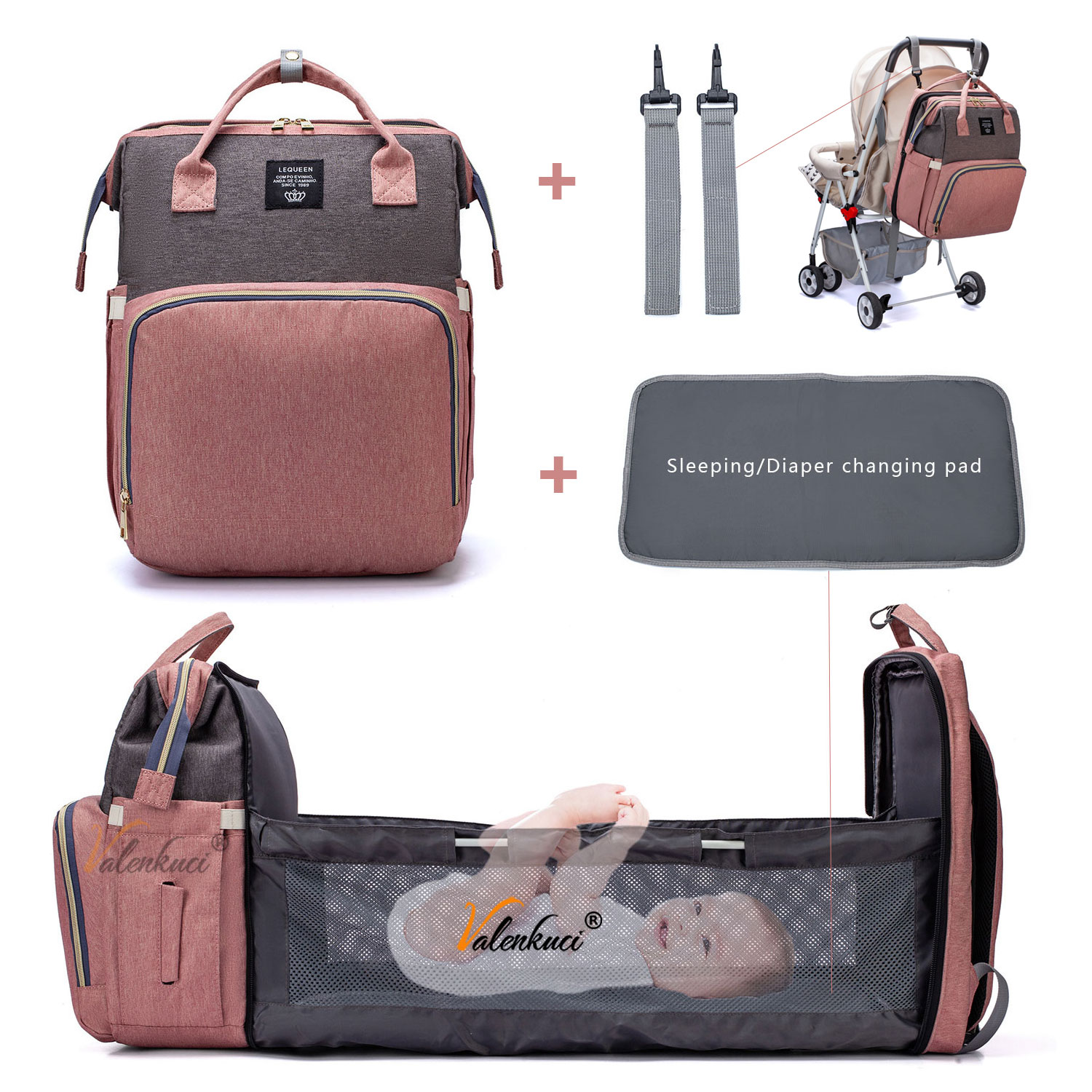 Lequeen multifunction baby bag | Happy Baby Mama