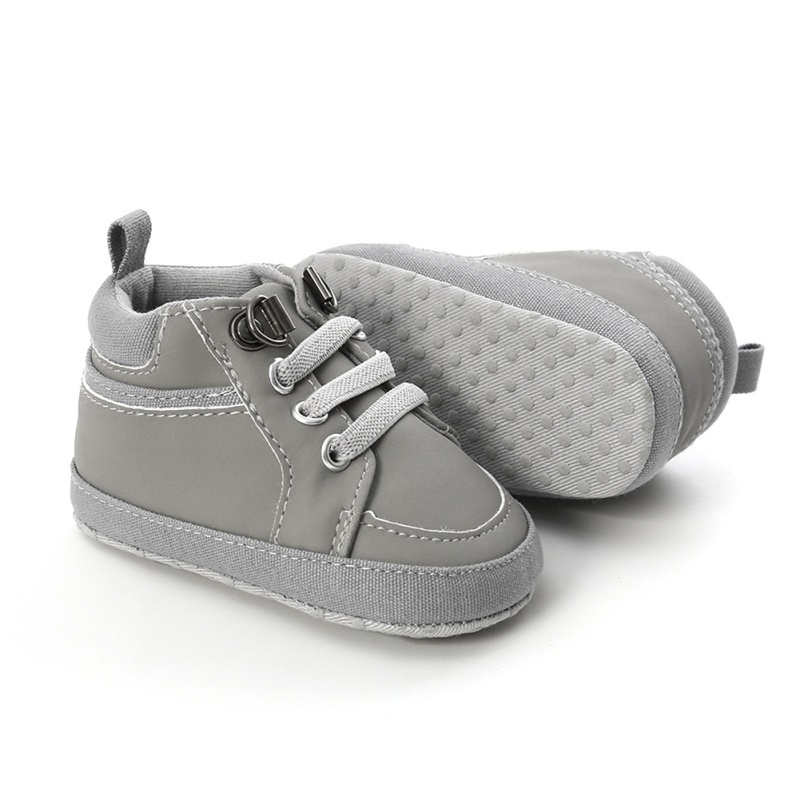 gray stretchy lace baby and toddler first walker shoes