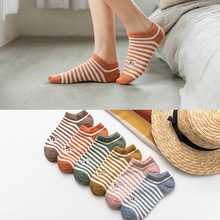 Spring And Summer Cotton Socks Fashion Women Boat Colorful Female Socks