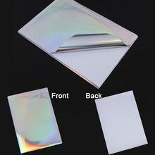 10 листов/lot a4 самоклеящийся лазерного принтера diy печать