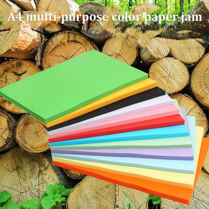 100 pces impressora colorida papel colorido papel 01