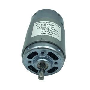 Image 4 - 997 Krachtige Dc Motor 12 36V Hoge Snelheid Motor Stil Kogellager Motor