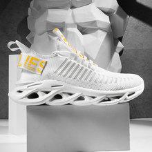 Дышащая мужская обувь из сетчатого материала с амортизацией; Легкие кроссовки для бега; женская модная обувь для бега
