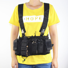Military tactical Vest Magazine Airsoft Paintball CS Outdoor Protective Lightweight Vest chest rig Pack Pouch outdoor hunting tactical chest rig adjustable padded modular military vest mag pouch magazine holder bag platform