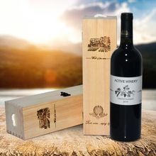 Packing-Box Container Whiskey Carrier-Grape Single-Bottle Retro Wood D5BD Storage-Case
