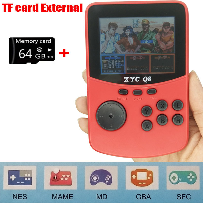 For NES\MAME\MD\GBA\SFC Open Source Arcade Handheld Retro Game Console Progress Save/Load 512M\64G TF Card External Game Player