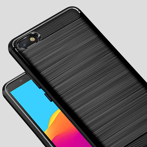 """For Honor 7A  5.45""""Case Carbon fiber Cover Full Protection Phone Case For Huawei Y5 2018 Honor 7 A DUA-L22 Cover Flex Bumper Lahore"""