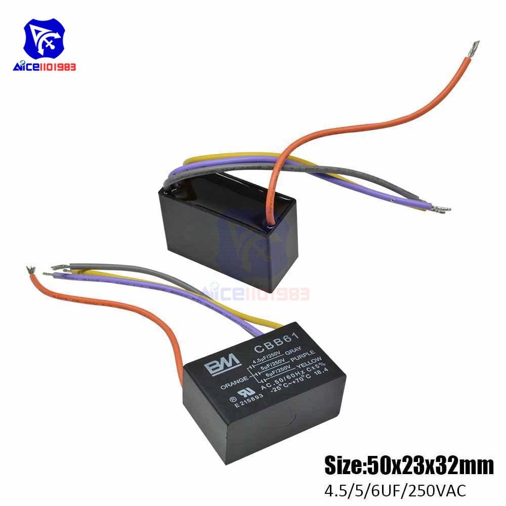 CBB60 AC 450V 50//60Hz 40uF 8mm Fils Non Polar Polypropyl/ène Film Capaciteur