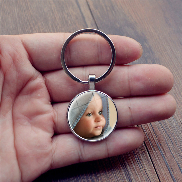 Personalized Photo Pendants Custom Keychain Photo Of Your Baby Child Mom Dad Grandparent Loved One Gift For Family Member Gift 3