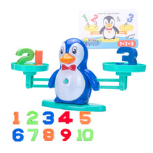 Penguin Hippo Balance Scale Math Game Toy Children Enlightenment Digital Addition And Subtraction Scaless Puzzle Toys Sozzy