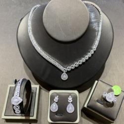 Tirim Dubai Luxe Elegante Bruids Ketting Set Voor Vrouwen Zirconia Bruiloft Sieraden Sets Voor Bruiden Accessoires Jewelri