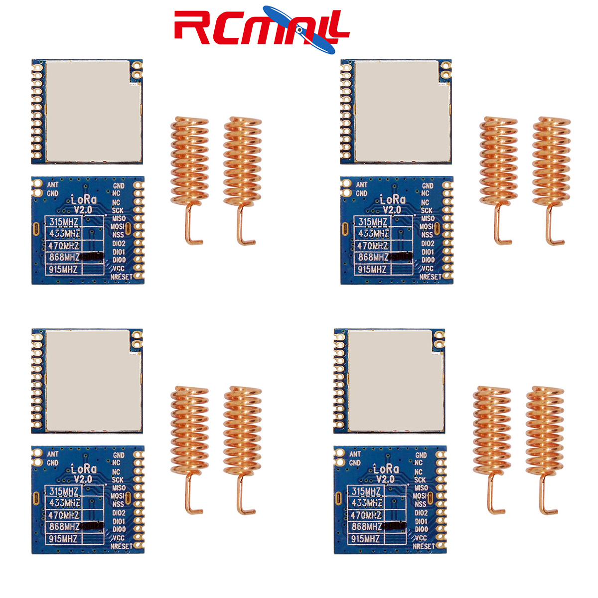 4Pcs/lot 868MHz | 915MHz 100mW SX1276 Chip Long Range 4Km RF Wireless LoRa Module LoRa1276 IOT  FZ2122 FZ2122M