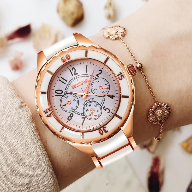 2019 Luxury Women Watches Fashion Women Dress Watches Stainless Steel Quartz Watches damen uhren horloge dames horloges vrouwen in Women 39 s Watches from Watches