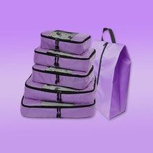 Compression Packing Cube Travel Luggage Organizer/ Waterproof/Nylon/Childrens/Mens/Female Bag Organizer/Hand