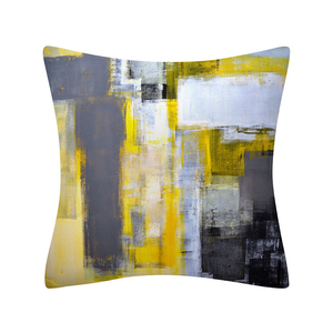 Image 5 - Colorful Painting Geometry Pattern Cushions Pillowcase Polyester Cushion Cover Throw Pillow Sofa Decoration Pillowcover 41029