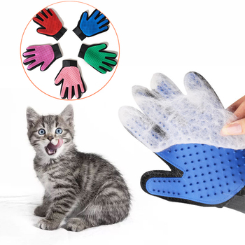 Pet Glove Cat Grooming Glove Cat Hair Deshedding Brush Gloves Dog Comb for Cats Bath Clean Massage Hair Remover Brush For Animal dog glove pet cat hair remover brush suede anti bite cleaning massage pet grooming glove puppy cats dogs hair deshedding combs