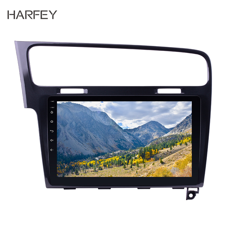Harfey Auto Multimedia Player Android 10.0 2Din Car Radio For <font><b>VW</b></font> Volkswagen <font><b>Golf</b></font> <font><b>7</b></font> 2013-2015 GPS 10.1