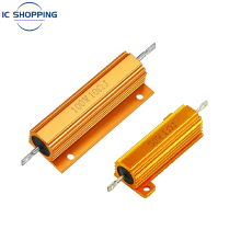 NEW 50W 100W Aluminum Power Metal Shell Case Wirewound Resistor 0.02 0.4 1.6 2.4 3.9 11 32 90 360 5.1K 5.6K 8.2K 33K 39K 47K Ohm