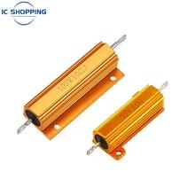 NOVA 50W 100W Alumínio Shell Power Metal Caso Wirewound Resistor 0.02 0.4 1.6 2.4 3.9 11 32 33 90 360 5.1K 5.6K 8.2K K K 47 39K Ohm