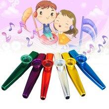 Металлические Карты флейта музыкальный инструмент дети играть случайный цвет Игрушки Музыкальные инструменты kazoo Лучший компаньон плеер образование подарок