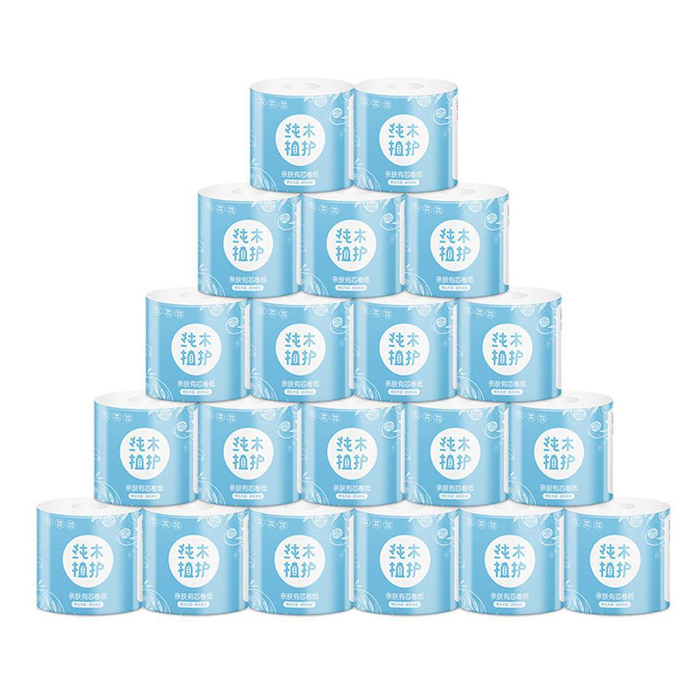 BellyLady Rolls Toilet Paper 4 Layer Rolling Tissue No Fragrance Toilet Paper Rolls Pack For Home Kitchen Toilet Trump