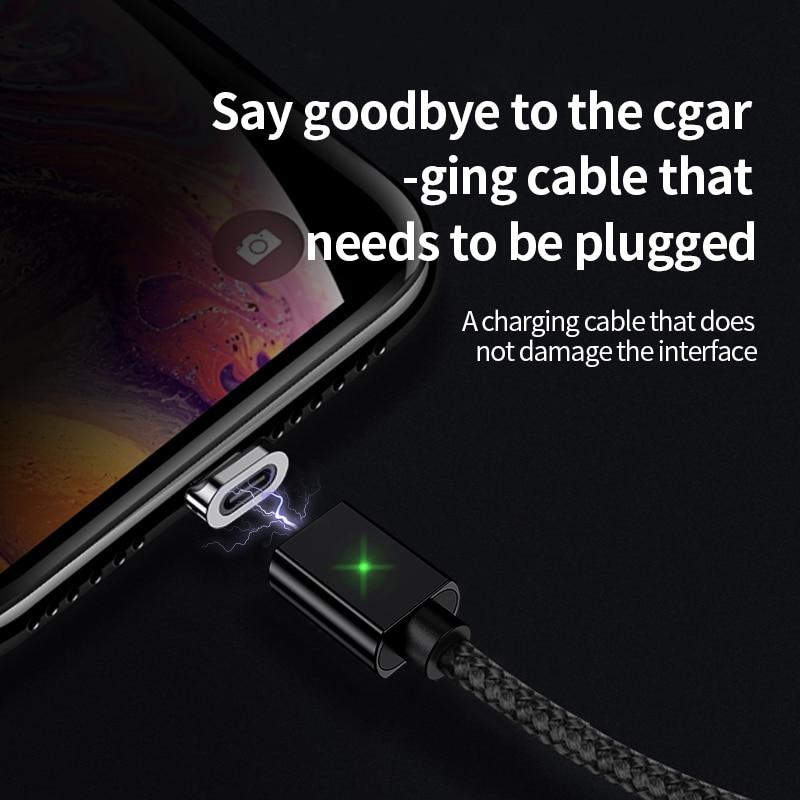 Câble magnétique de micro USB de type C, marque OLAF pour iPhone, Android et Xiaomi 4