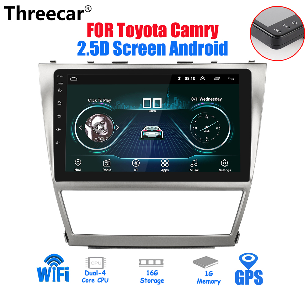 2.5D Screen 10.2'' Android 2din Car Radio For Toyota Camry 2007~2011 GPS Navigation Stereo Audio Video Multimedia Player WIFI