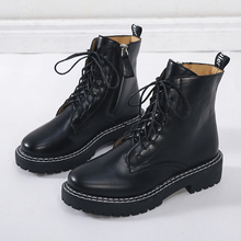 Women Platform Mid Calf Boots Female Lace Up Punk Motorcycle Boot Plus Size Buckle Strap Zipper Ladies Low Heel Shoes *x1982 eyelet buckle strap mid calf boots