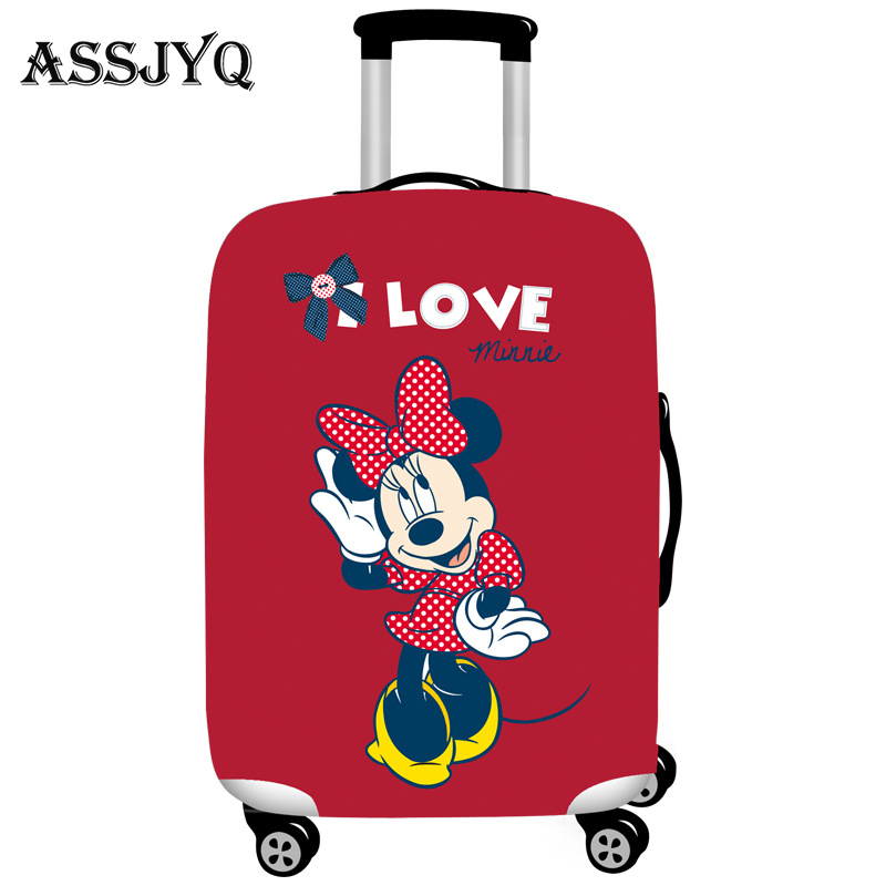 Mickey Pattern Elastic Luggage Cover Protector Dustproof 18-32 Inch Trolley Suitcase Case Protective Covers Travel Accessories