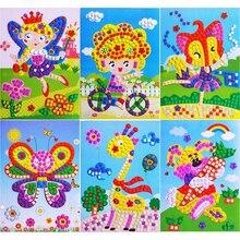 1 набор пена кристалл мозаика наклейки мультфильм 3D пазлы игрушки для детей образовательные дети игрушки мальчики девочки популярные поделки игры подарки