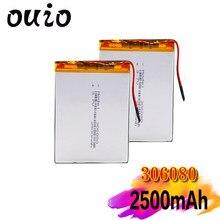 Polimerowa bateria litowa 306080 2500 mah PDA inteligentny tablet komputer 3.7 v akumulator do MP5 GPS kamera DVD iPad głośnik