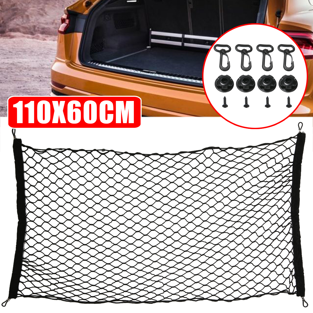 Auto Care 110x60cm Universal Car Trunk Luggage Storage Cargo Organizer Nylon Stretchable Elastic Mesh Net Set image