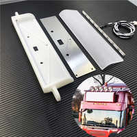 RC Truck Plastic Front LED Advertisement AD Light Box For 1/14 Tamiya RC Truck Man Scania Actros