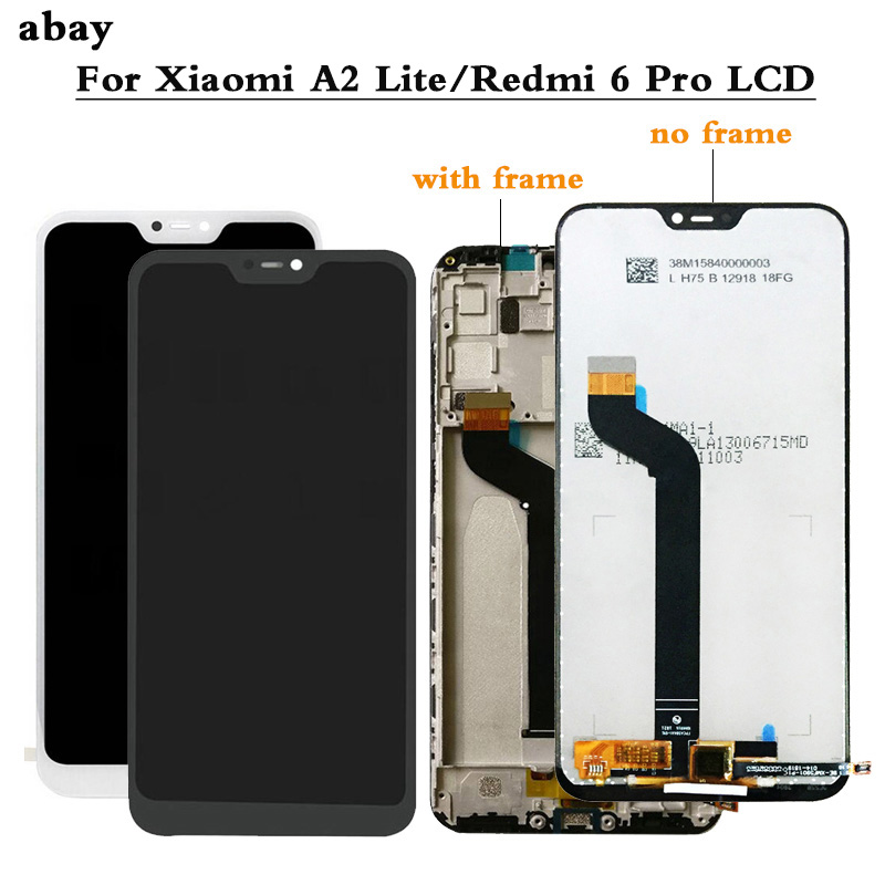 5.84 Inch LCD Display For Xiaomi Mi A2 Lite LCD Display+Touch Screen Digitizer Assembly With Frame For Xiaomi Redmi 6 Pro LCD