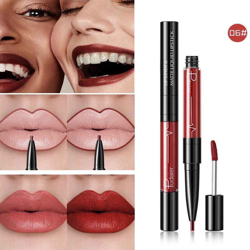 Fashion Hot 16 Colors Long lasting Lip Liner Matte Lip Pencil Waterproof Moisturizing Lipsticks Makeup Contour Cosmetics
