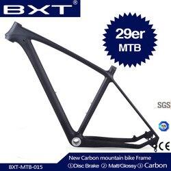 2020 Bxt Merek T800 Karbon MTB Bingkai 29er MTB Karbon Bingkai 29 Karbon Mountain Bike Frame 142*12 atau 135*9 Mm Frame Sepeda