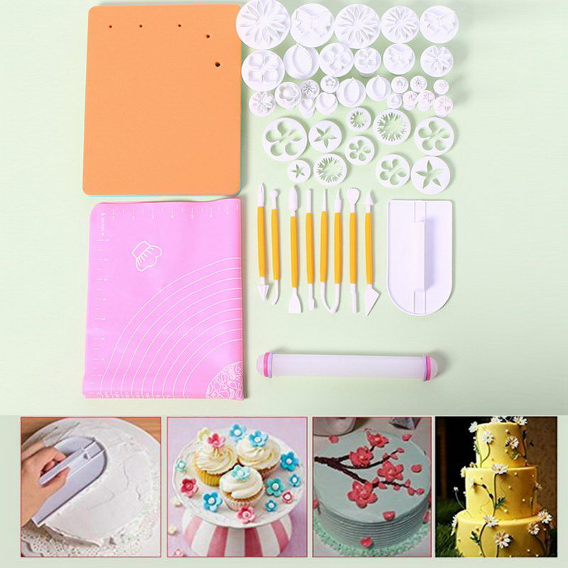 Cookie Tool 48 Pieces DIY Fondant Cake Tool Set Cookie Mould Baking Set TP899
