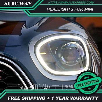 car styling Case For BMW Mini R56 R60 headlights 2017-UP Headlights BMW Mini Headlights LED light bar DRL Q5 bi xenon lens h7