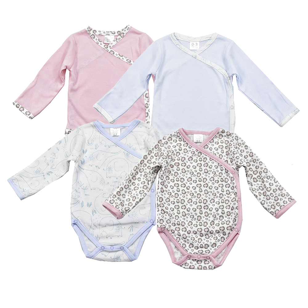 New Newborn Rompers Baby girls Clothes Baby boy Bodysuits Long Sleeve Side-Snap cotton Spring Autumn baby jumpsuit