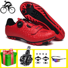 Self-locking Cycling Shoes Sapatilha Ciclismo MTB Red Ultralight Mountain Bike Men Racing Athletic Bicycle Breathable Sneakers sidebike men women bicycle cycling shoes outdoor mtb racing athletic shoe breathable mountain bike self locking shoes red