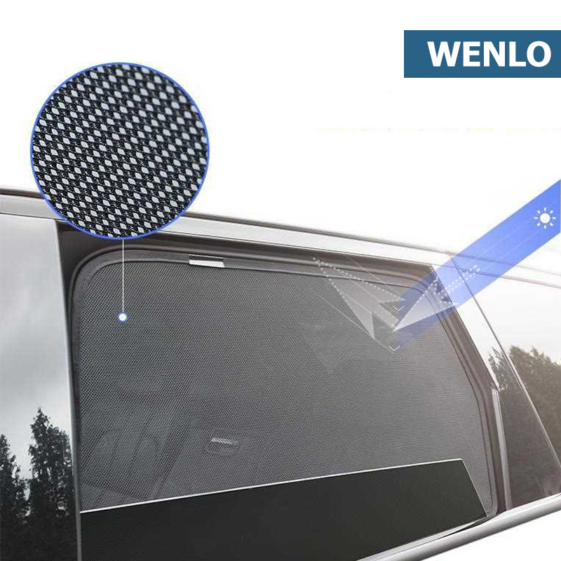 WENLO For Hyundai Elantra Celesta SANTA FE Verna I30 I40 LAFESTA KONA Magnetic Car Side Window Sun Shades Cover Mesh Car Curtain