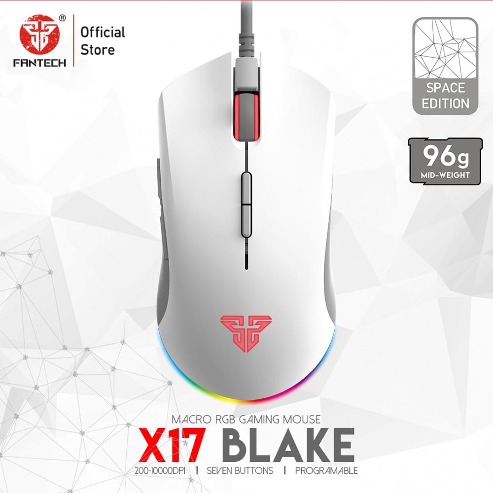 Игровая мышь FANTECH X17 PIXART 3325, 10000DPI, 7 кнопок, макрос, RGB, проводная мышь, геймер, эргономичная мышь для игры LOL FPS
